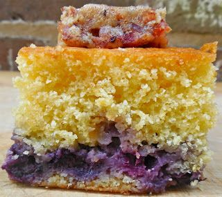 cake candied candied bacon cornbread cake sweet cornbread blueberries ...