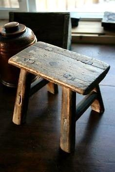 Old Wood Mortised Small Step Milk Stool Antique Vintage -- Antique Price Guide Details Page & 33 best Stools images on Pinterest | Primitive furniture Wooden ... islam-shia.org