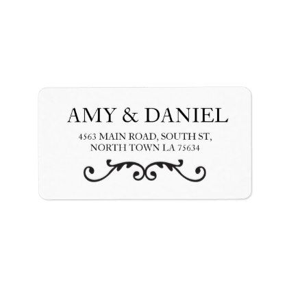 elegant address labels stickers script scroll labels customize diy