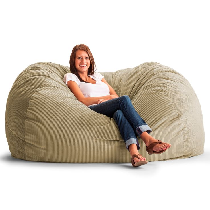 XL Wide Wale Corduroy Bean Bag Sofa