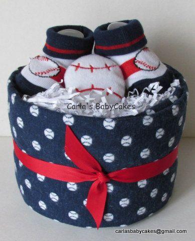 Baseball mini diaper cake Boy Mini diaper by MsCarlasBabyCakes, $18.00