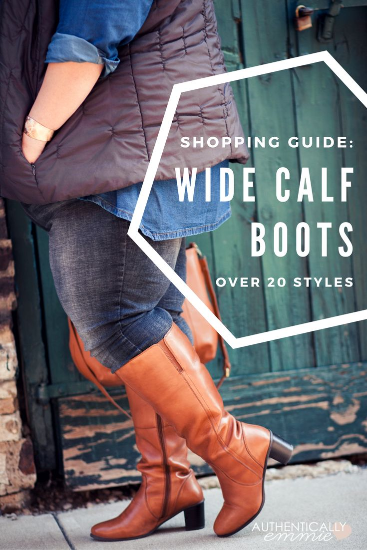 Wide calf boots for athletic calves and plus sizes - over 20 options, complete with sizing and shopping tips. From @emilyjoanho of Authentically Emmie