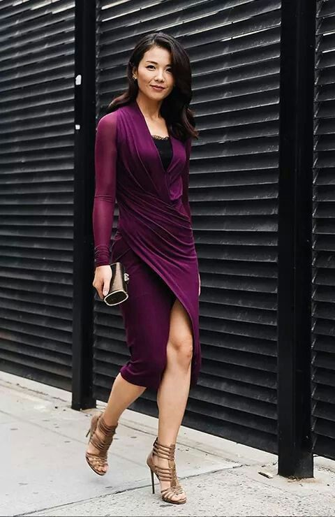 Vestido morado ♥ | Moda ♥ | Pinterest