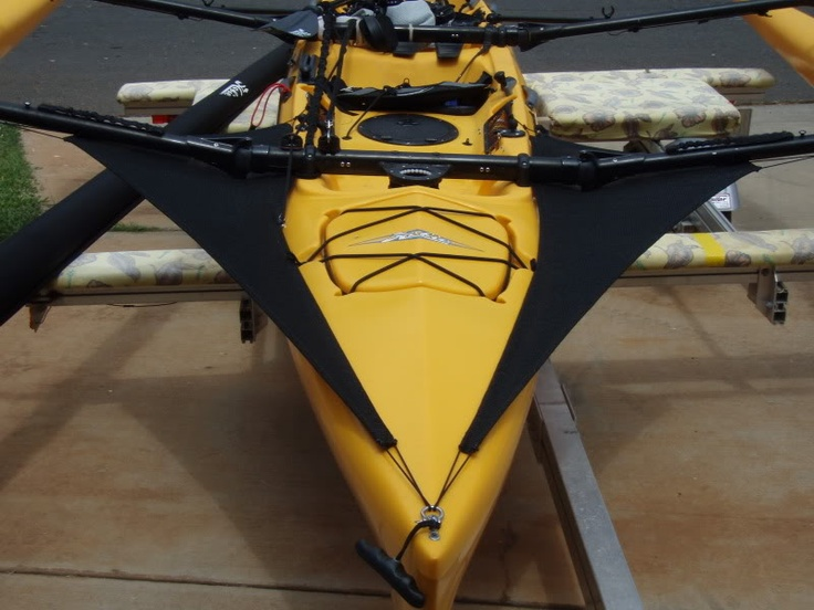 A sprayskirt makes these boats much drier. Hobie