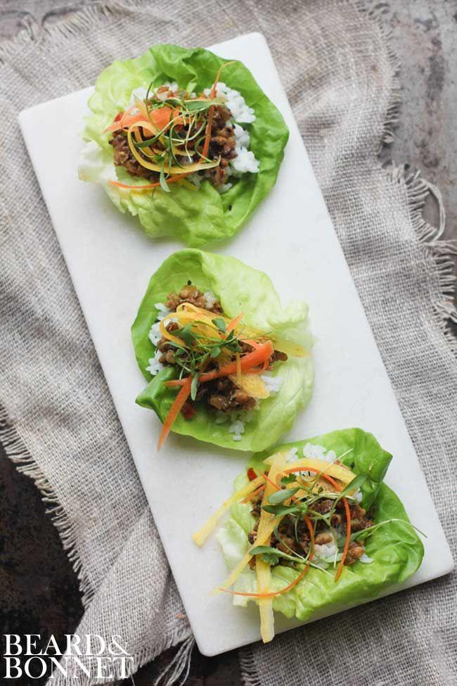 Asian Lettuce Wraps with Homemade Hoisin Sauce {Beard and Bonnet} #glutenfree #dairyfree