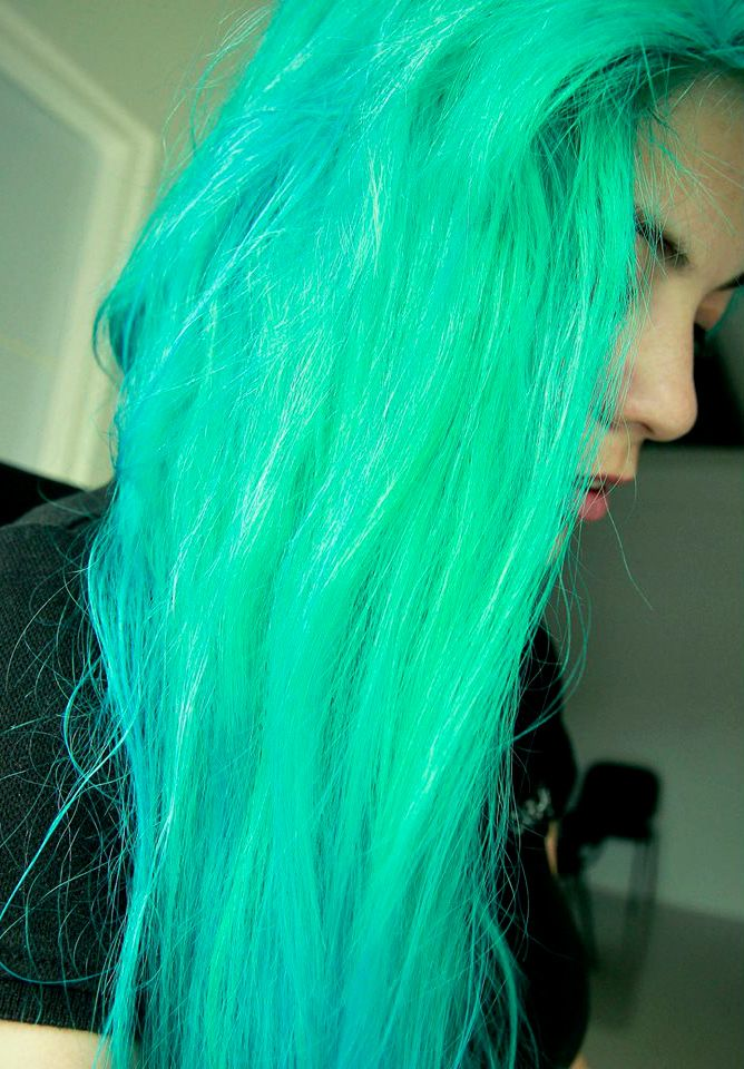 Hair / green / manic panic / electric lizard / turquoise / magic