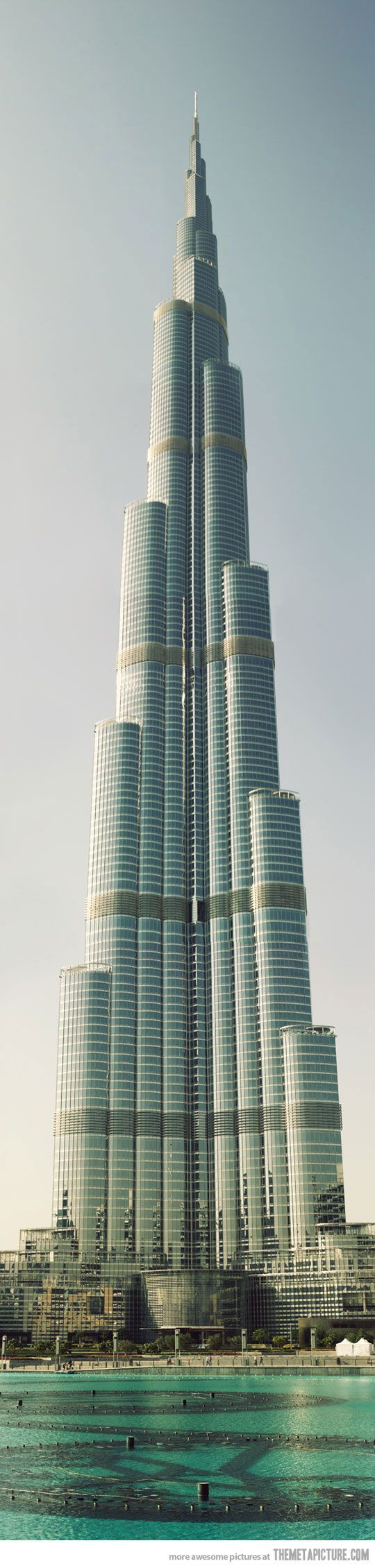 Burj Khalifa: The tallest building in the world (Dubai). More than 160 stories. It has also broken two other impressive records: tallest structure, previously held by the KVLY-TV mast in Blanchard, ND, and tallest free-standing structure, previously held by Torontos CN Tower. #dubai #uae