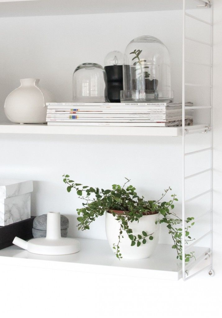 String shelf styling from Decordots blog
