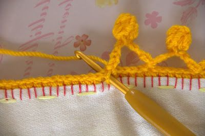 the heartfelt company: Bubbly crochet edging