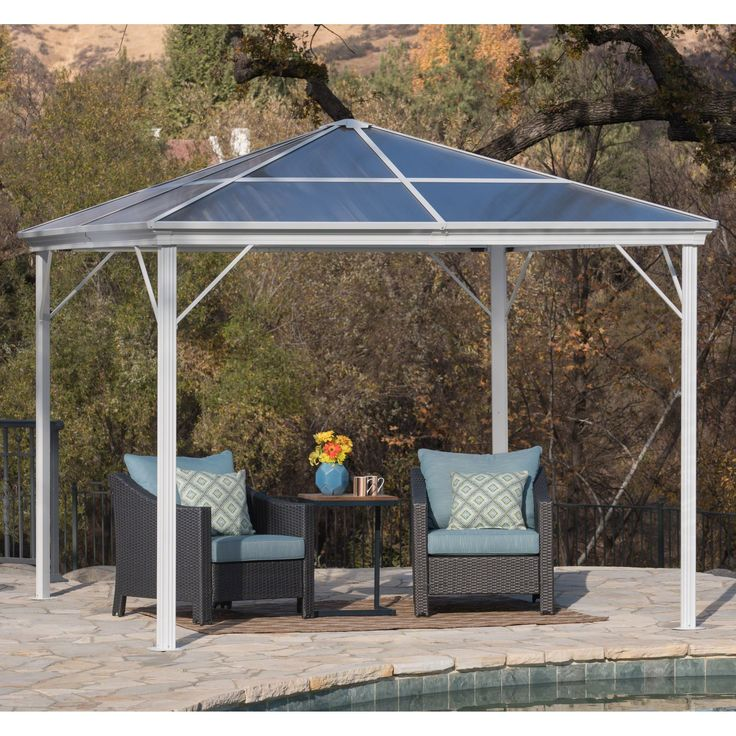 Bailey Outdoor 10 ft. Gazebo with Hardtop by Christopher Knight Home