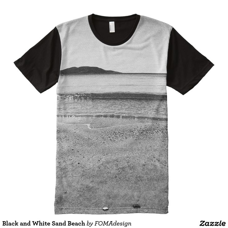 Black and White Sand Beach / All-Over Print T-shirt #fomadesign