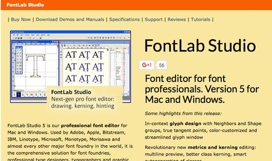 Best font editors: Fontlab