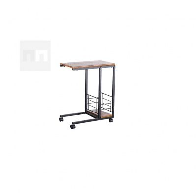 Příruční stolek 50x64cm na kolečkách v dekoru ořech TK2142