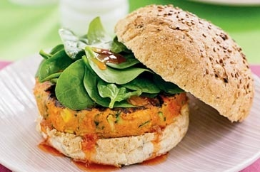 I am on the lookout for vegie patty recipes to try and recreate my favourite Grill'd menu item, the Garden Goodness burger. I would do this vegie patty and serve with tomato relish, avocado, herbed mayo, beetroot, tomato, lettuce....yummo...