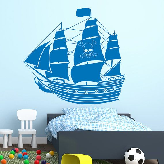 Pirate Ship Wall Decals Boat Decal Vinyl Stickers by DecalHouse