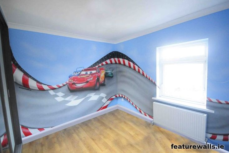 Cars Mural So going to find someone to paint this in Tanners Room