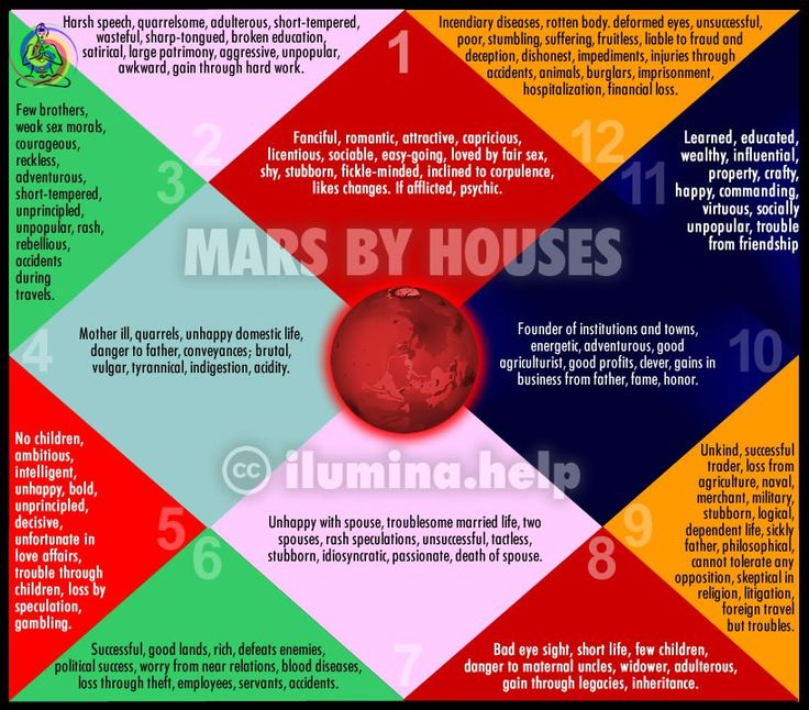 Effects of Mars Through Houses in Vedic Astrology