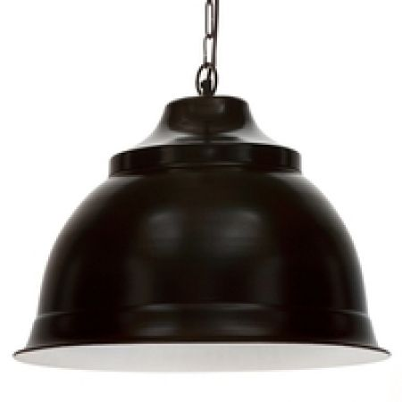 hardtofind monochrome style | Vintage-style large pendant light in black