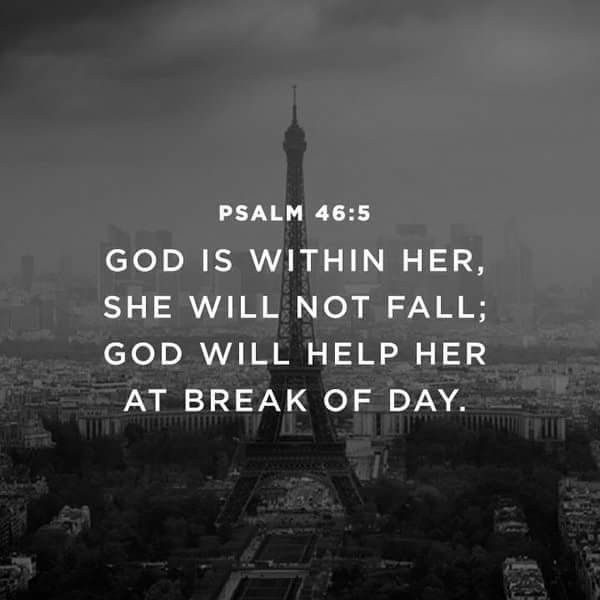 God is within her.