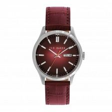Ted Baker Gents S/Steel Black Leather Strap Watch TE10023463
