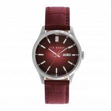 Ted Baker Gents S/Steel Black Leather Strap Watch TE10023463