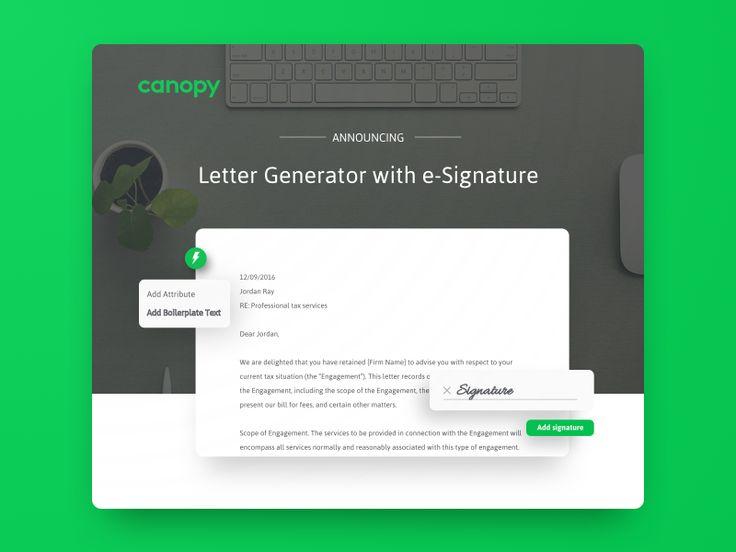 e-Signature Announcement