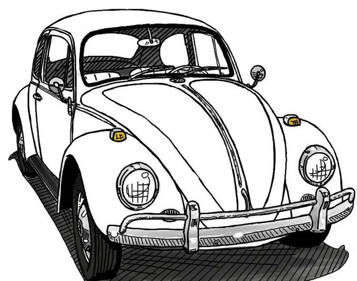 608 best images about vw beetle drawings on pinterest