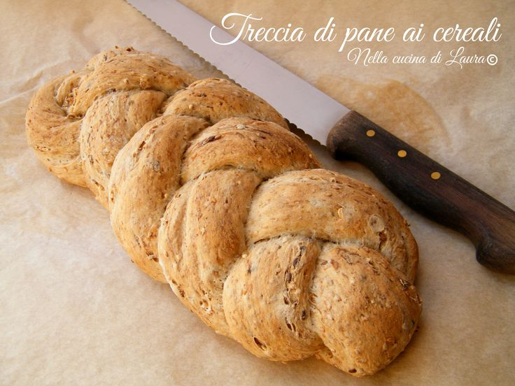 treccia di pane ai cereali - nella cucina di laura