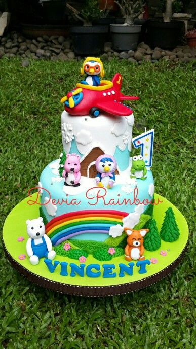 29 Best Quot Pororo Quot Theme Cake Images On Pinterest Cake