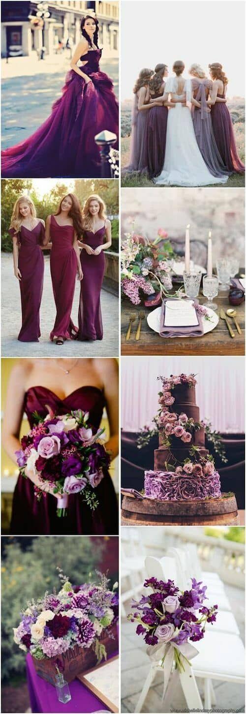 Plum + Purple Wedding Color Ideas #weddingcolors #weddingideas #purple