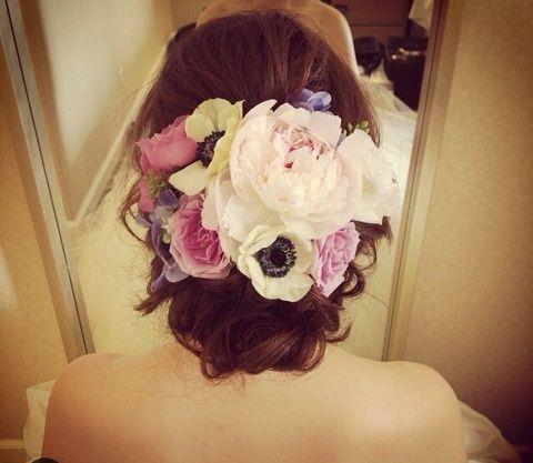 生花の髪飾り の画像|Satomi の ハワイブライダルヘアメイク 『Satomi no sonogo』