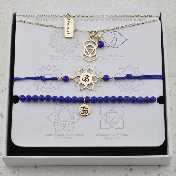 Gold Third Eye necklaces lapis yoga necklace chakra