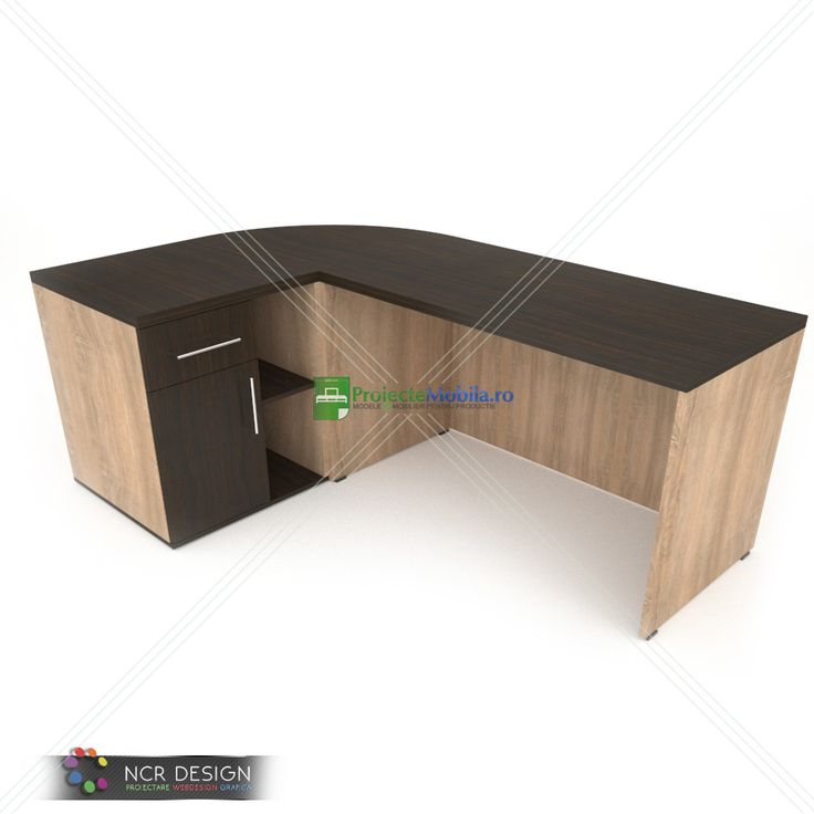 3D model of office desk with sonoma and  A356 ZEBRANO CLASIC as colors. #officefurniture #officedesk #sonomafurniture #furnitureideas #deskfurniture #interiorfurniture #officedeskmodels #moderndesk #ncrdesign #vray #render