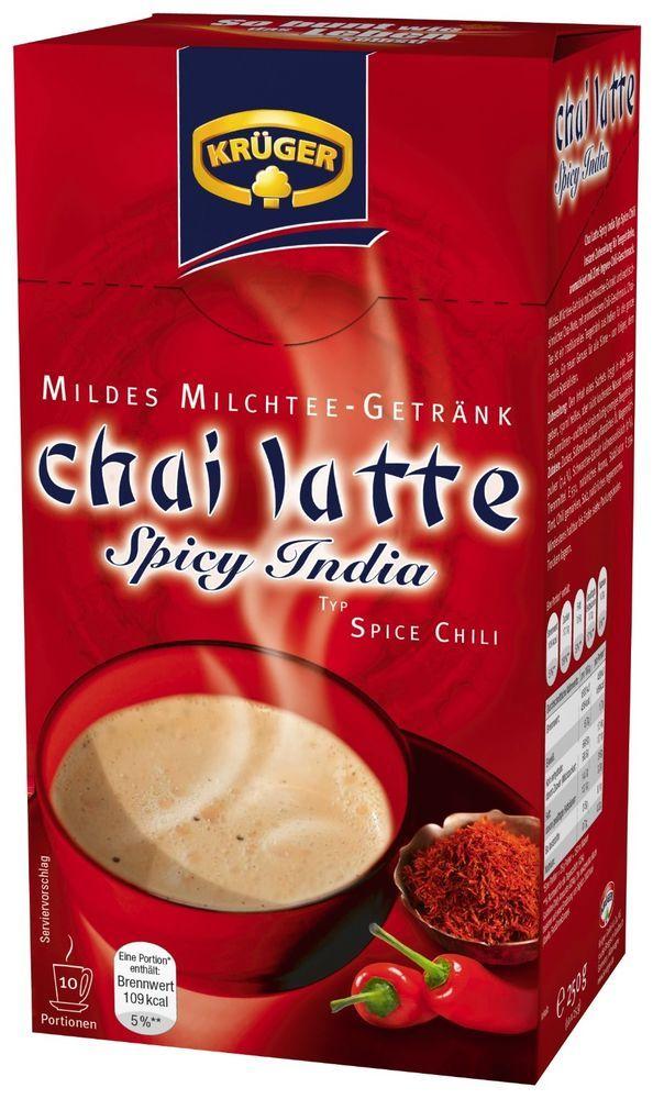 Krüger Chai Latte Spicy India Spice Chili Milk Tea 10 Servings Original Germany #Krger