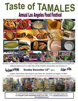 Taste of Tamales Food Festival | Placita Olvera, Los Angeles | December 15, 2013