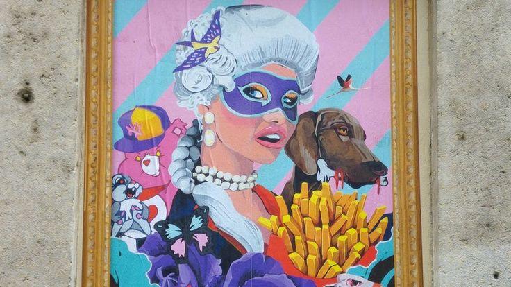 happycurio rauky street art peinture collage marquise