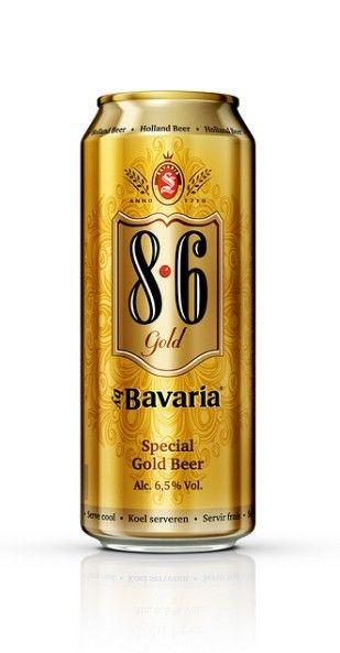 Cerveja Bavaria 8.6 Special Gold Beer, estilo Malt Liquor, produzida por Bavaria Brouwerij, Holanda. 6.5% ABV de álcool.