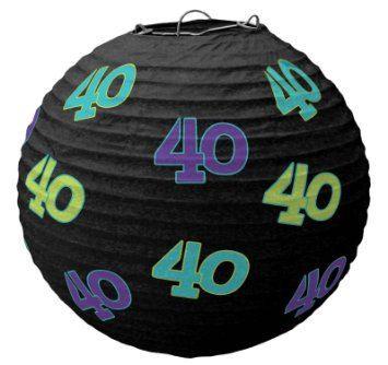 decoraciones de cumpleaños de 40 linternas de papel