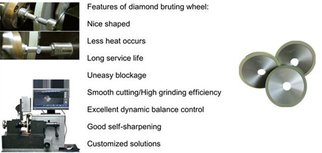 The first company produces ceramic diamond bruting wheel for polishing natural diamond at domestic. Long life , good self-sharpening and so on. sales@moresuperhard.com
