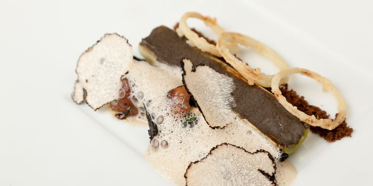 Grilled Leek, Aubergine and Mushrooms  - Steve Drake @ Great British Chefs