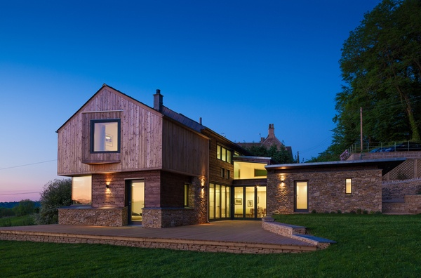 New build house in the Cotswolds UK.  Designed by Millar + Howard Workshop Architects