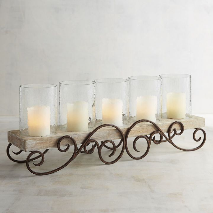 Metal Scroll Centerpiece Pillar Candle Holder Affiliate Link Wrought Iron Candle Holders Glass Pillar Candle Holders Candleholder Centerpieces