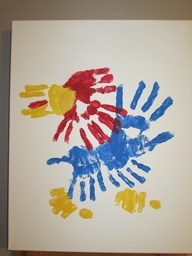 Preschool Crafts for Kids*: Kansas Jayhawk Handprint Craft