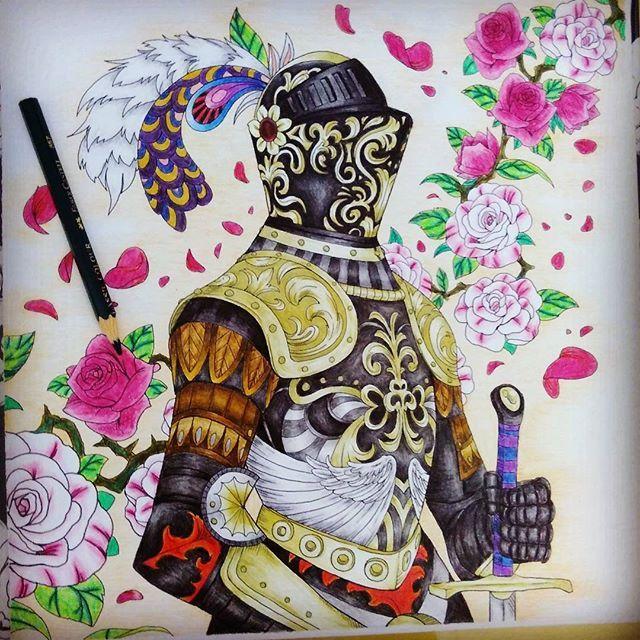 #art #pencilcolor #coloringbookid @coloringbookid #fabercastell #Fantasia @fabercastellglobal #knight #ksatria #soldier #coloringbook #coloringbookforadults #prajurit #armor #roses #likeforlike #bunga #mawar #fantasiacoloringbook #flowers #nicholasfilbert @nickfilbert #nickfilbert #artgallery #hobby #metime #hobi