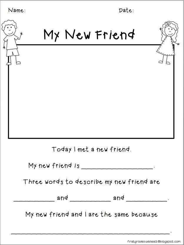 Making Friends Worksheets Kindergarten Friendship Worksheets For Kindergarten Kindergarten In 2020 Mentor Texts Kindergarten Worksheets Beginning Of School