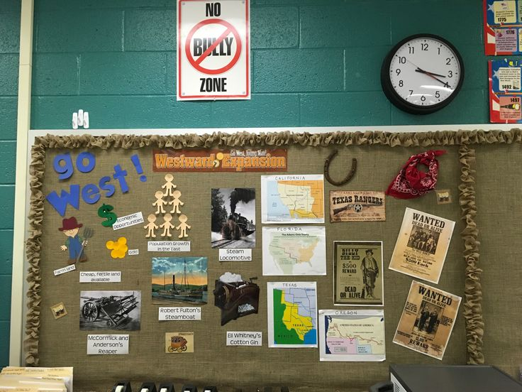 Western Expansion bulletin board