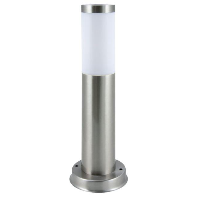 LED Standleuchte 45cm, Sockelleuchte, Pollerleuchte, Wegleuchte, Edelstahl, Außenleuchte, IP44, E27-230V, (Form:S10)