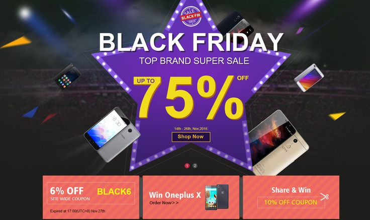 Black Friday Top Brand Super Sale, from Geekbuying