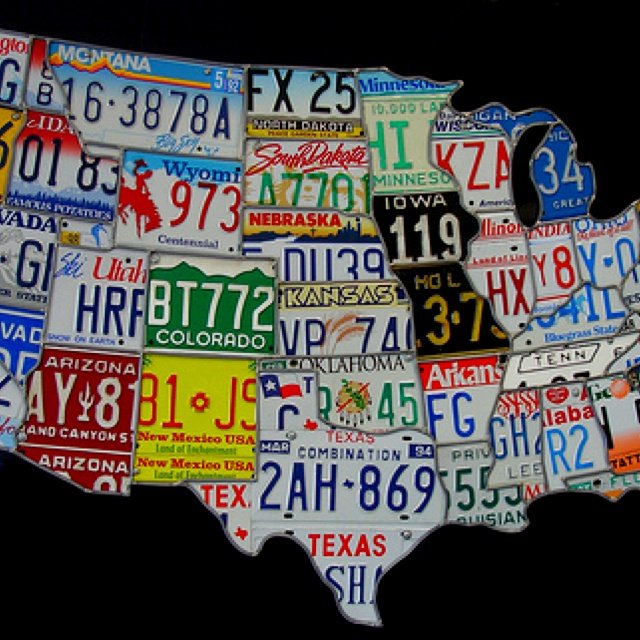 Best License Plates And Maps Images On Pinterest License - Us liscense plate map