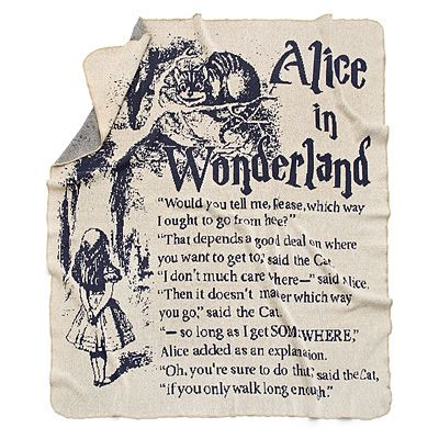 #alice in #wonderland storybook #blanket http://www.uncommongoods.com/product/alice-in-wonderland-storybook-blanket